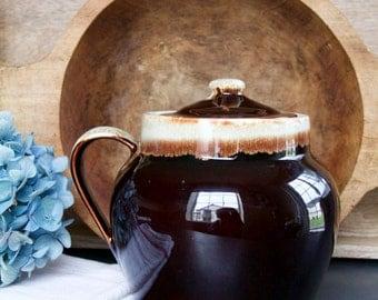 Vintage Pfaltzgraff Brown Drip Bean Pot