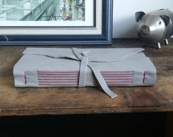 Large Leather Journal, Gray Hand-Bound 6 x 9 Journal by The Orange Windmill on Etsy 1755