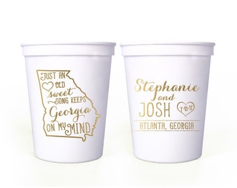 Custom Wedding Favor - Just an Old Sweet Song - 16 oz. Stadium Cups