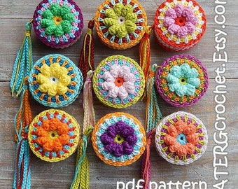 Crochet pattern Tape measure cover 'FLOWER' by ATERGcrochet