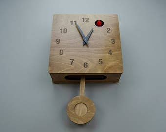 Quercus Numerical - Modern Cuckoo Clock in Walnut finish