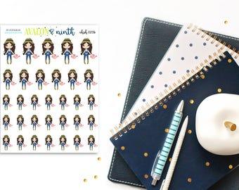 Garden Girl // Yard Work Girl // Planner Stickers // CHSH