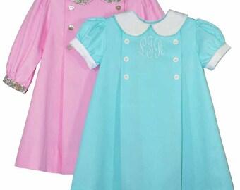 Adelaide Pattern /  Girls DressPattern / Peter Pan Collar / A-line dress /Front  Knife Pleats / 2 Sleeve Types / Children's Corner #252