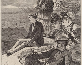 Winslow Homer Reproductions.  The Coolest Spot in New England - Summit of Mt. Washington, 1870. Fine Art Print