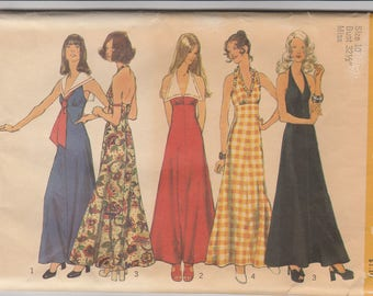 Awesome Halter Dress Pattern Simplicity 5349 Size 10