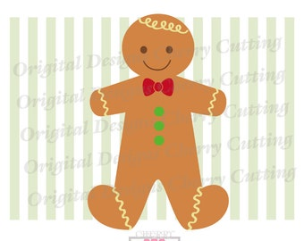 Gingerbread Boy svg dxf, Christmas Sweet Gingerbread,Gingerbread Silhouette Cut Files, Cricut Cut Files CHSVG27 -Personal and Commercial Use