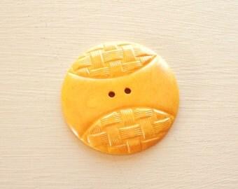 soft gold vintage bakelite button