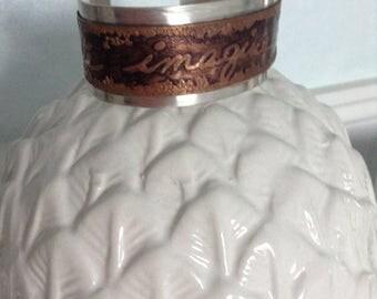 Imagine,Create,Dream Copper and Sterling Cuff Bracelet