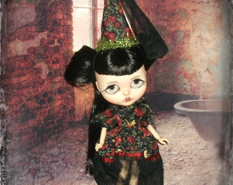 Blythe ~ RESERVED for GINGER ~ Circus Princess  Spanish Style~ Vintage  Inspired 2 Piece Outfit with Pintucking~ By KarynRuby