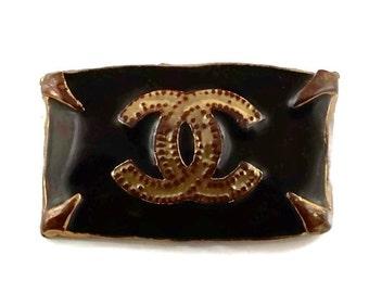 Vintage CHANEL Byzantine CC Logo Brooch