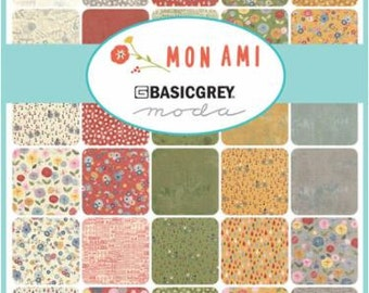 Mon Ami Charm Pack by BasicGrey for Moda - One Charm Pack - 30410PP