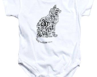 Cat is the Word Onesie - 6months to 24months - FREE US shipping