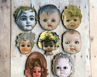Doll Brooch Doll Parts Jewelry Doll Head Pin