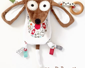 Doxy dachshund dog mini baby animal lovey pacifier toy buddy