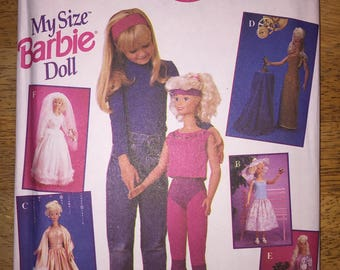 Simplicity Sewing Pattern 8817 My Size Barbie Doll Clothes for 3 Foot Barbie OOP Original