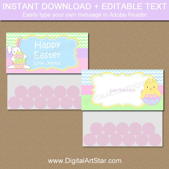 Easter bag topper printable easter bag tags printable easter il570xn negle Image collections