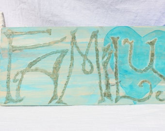 Family Wood SIgn Handpainted