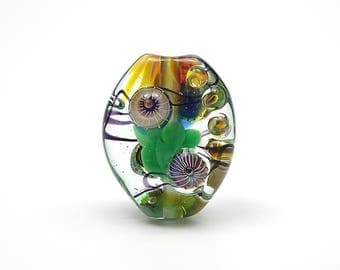Small Lampwork Glass Abstract Focal Bead