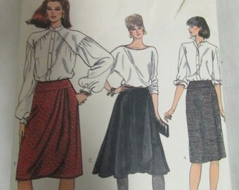 Vogue 8462 Very Easy Size 12, 14, 16 Misses Skirt Uncut