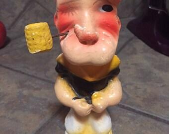 Popeye 1930's Chalkware Statue