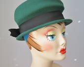 Green Hat / Vtg 60s / Luc...