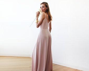 Blush Pink Wide-Pant Jumpsuit  1114