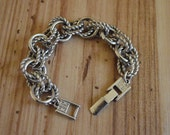 1980s Givenchy silver-tone chunky bracelet, eighties Givenchy rope link bracelet **HOLD FOR PRICE**