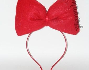 Big Red Bow // Snow White Bow// Kiki's Delivery Service // by Born TuTu Rock