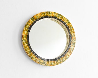 Bathroom Mirror Mosaic Vintage Round Tiled Bath