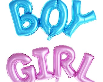 "42"" Boy or Girl  Balloon/ / blue / pink/ air fill only/ script balloon/ birthday banner/ birthday balloon/ jumbo balloon/ helium"