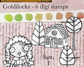 Goldilocks - 6 digi stamp bundle