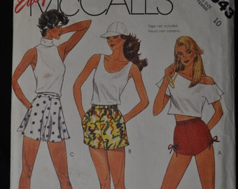 Vintage McCall's Short Pattern #2543, 3 styles of shorts, size 10