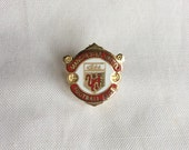 Official Manchester United Football, Soccer Club Pin, Red Enamel