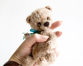 Little Artist Teddy Bear Tom + FREE shipping - Collectible Bear - Stuffed Teddy bear - Gift idea