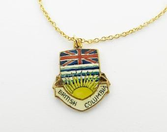 British Columbia Necklace - BC Pendant Necklace - Canada 150 Necklace