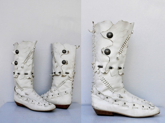 white boot white leather boots moccasins leather boots