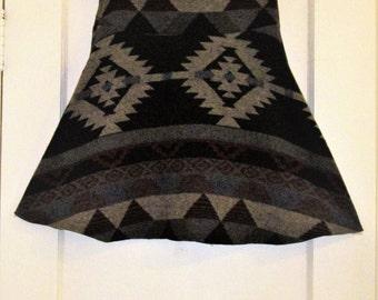 Southwest Pattern Winter Skirt, size Small