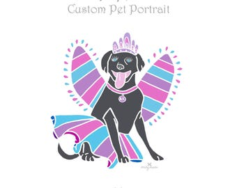 Custom Pet Portrait / Dogs Cats Birds Horses Animals / Pet Memorial / Pet Loss / Personalized Illustration of Your Pet