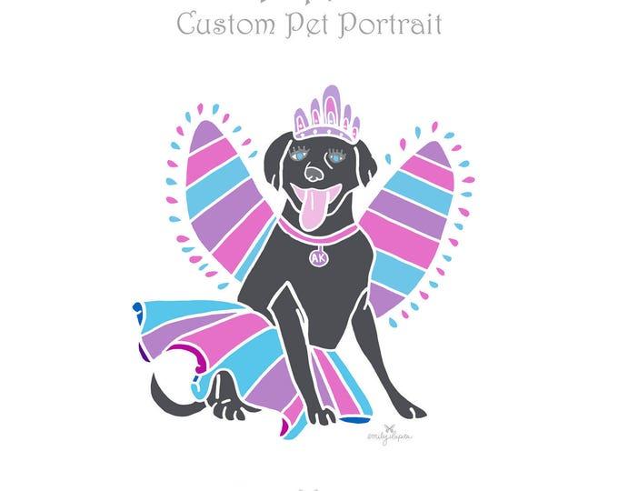 Featured listing image: Custom Pet Portrait / Dogs Cats Birds Horses Animals / Pet Memorial / Pet Loss / Personalized Illustration of Your Pet