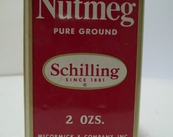 Vintage Shilling Nutmeg Pure Ground Tin