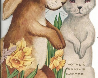 Vintage 1940's Mother Bunny's Easter Greeting Rhymes