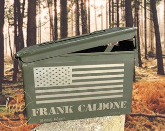 Groomsman ammunition box , ammo box , unique groomsman gifts , hunter ammo box, personalized ammo boxes