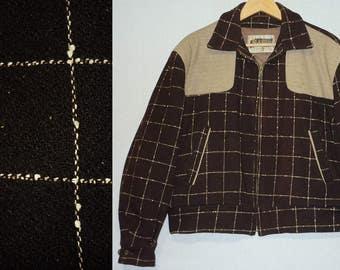 1950s Jacket / L - XL / 44 / Flecked / Rockabilly / Two Tone / Wool / Atomic / Vintage 1950s Mens Clothing / 50s Jacket / Elvis / RnR / VLV
