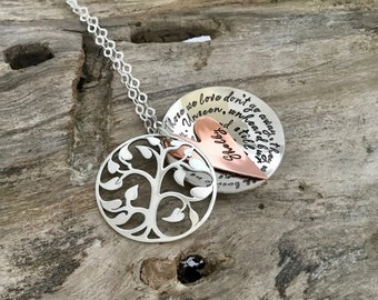 Custom memorial necklace   Sympathy gift   Remembrance Jewelry  Sterling silver  Memorial Jewelry  Personalized jewelry  Loss of loved one