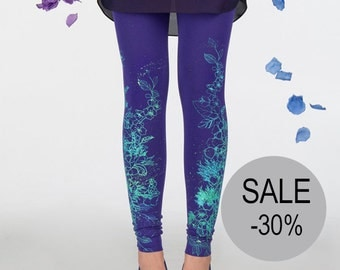 30% SALE - Violet fields - leggings