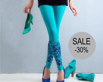 30% SALE -Emerald City - leggings