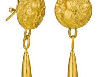 Art Nouveau 18k Earrings