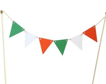 Irish Flag Cake Banner - Saint Patrick's Day Cake Banner - St Patrick's Cake Topper - Irish Cake Topper - Irish Flag Cake Topper