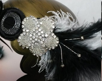 Roaring 20s, art deco, halcyon, wedding, great gatsby, hair, headddress, headpiece, headband, FREE SHIPMENT
