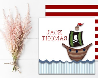 Pirate Calling Cards | Kids Gift Tags | Mommy Calling Cards | Pirate Birthday | Personalized Gift Tags | Gift Enclosure Cards